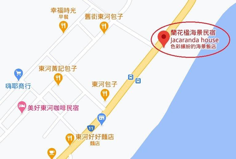 蘭花楹海景民宿位置