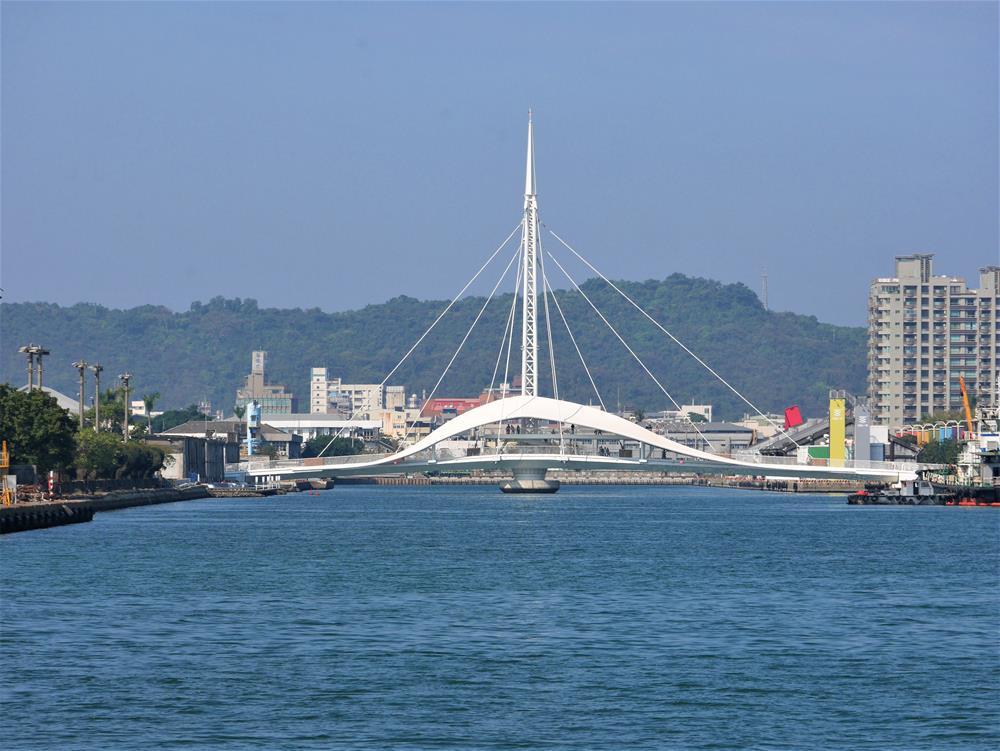 光榮碼頭遠眺大港橋