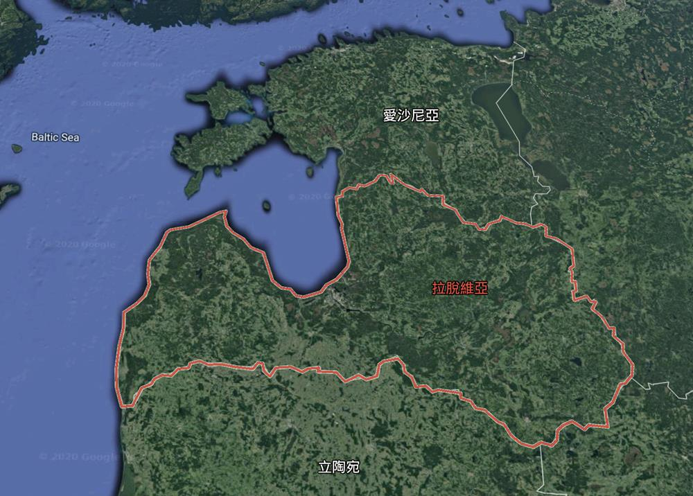 拉脫維亞位置地圖
