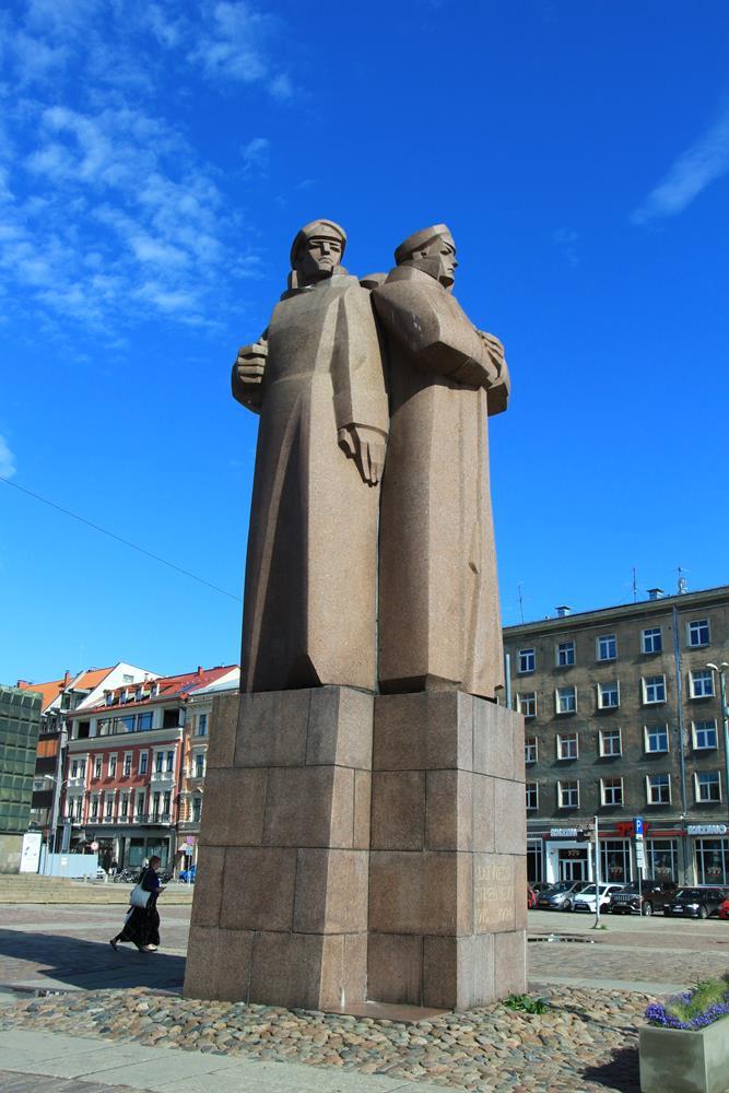 拉脫維亞步兵雕像