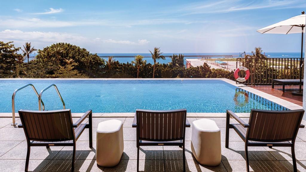 花蓮海景飯店璽賓行旅無邊際游泳池