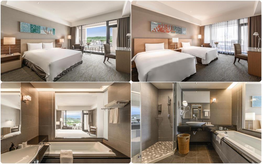花蓮煙波大飯店豪華雙人床及雙床房