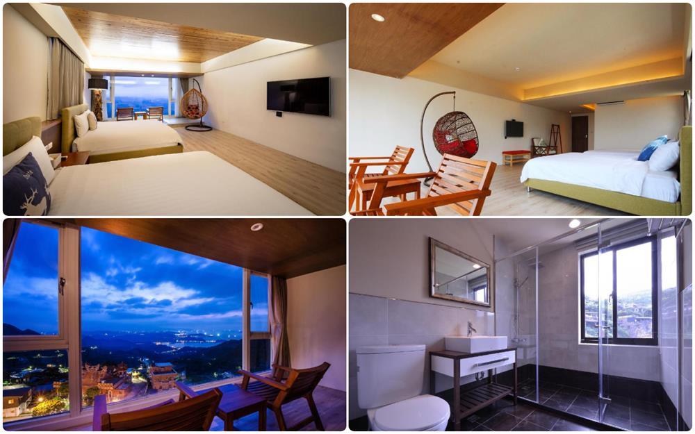 日式簡約風海景四人房