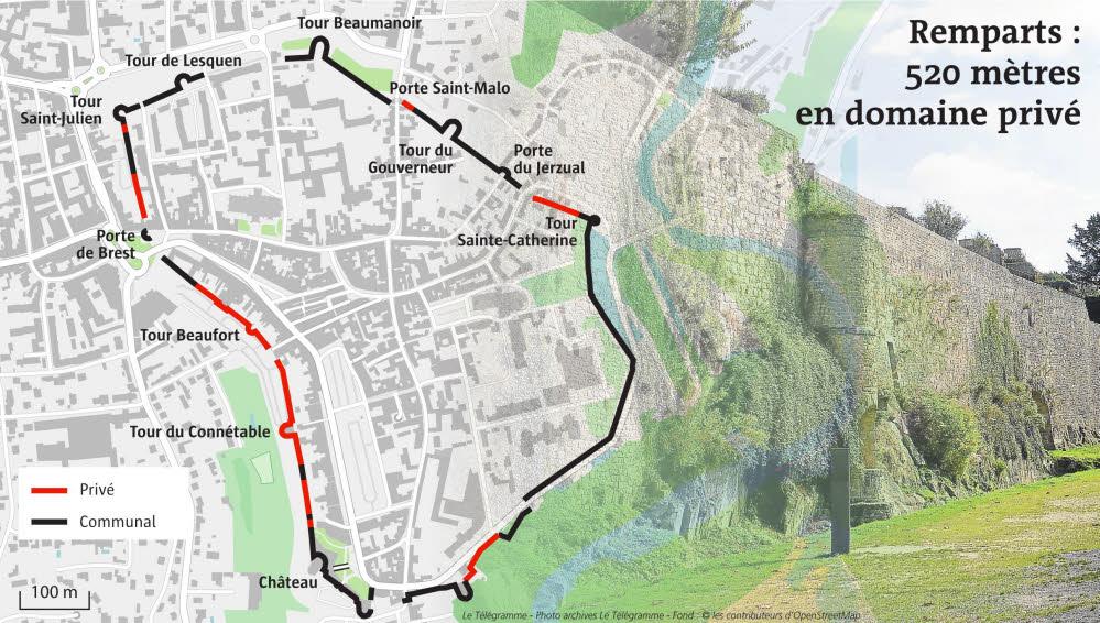 迪南城牆分布地圖