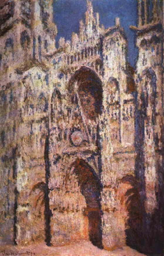 莫內-日光下的魯昂大教堂