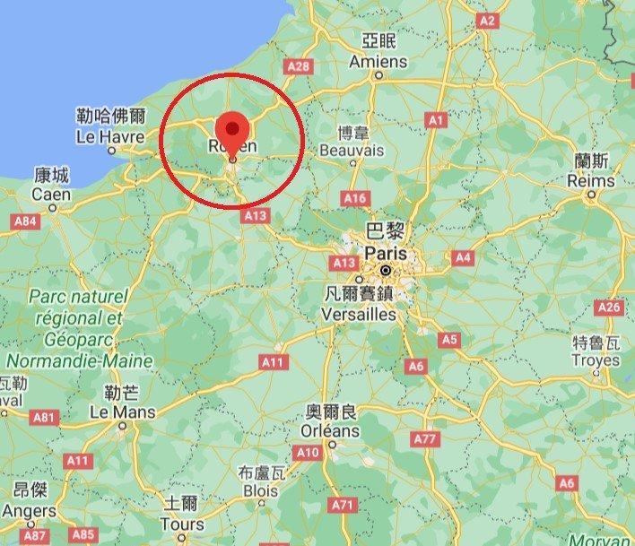 法國盧昂位置