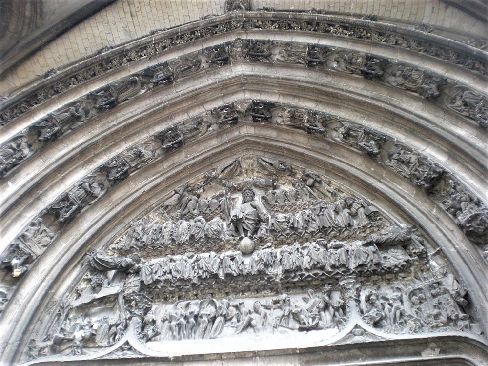 龕楣雕刻-最後的審判