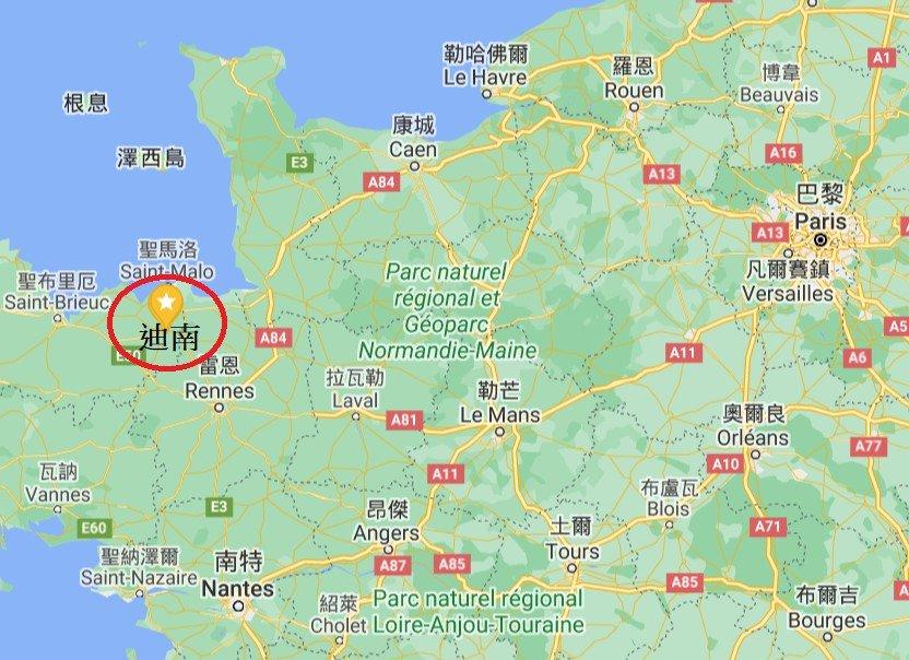 法國迪南位置