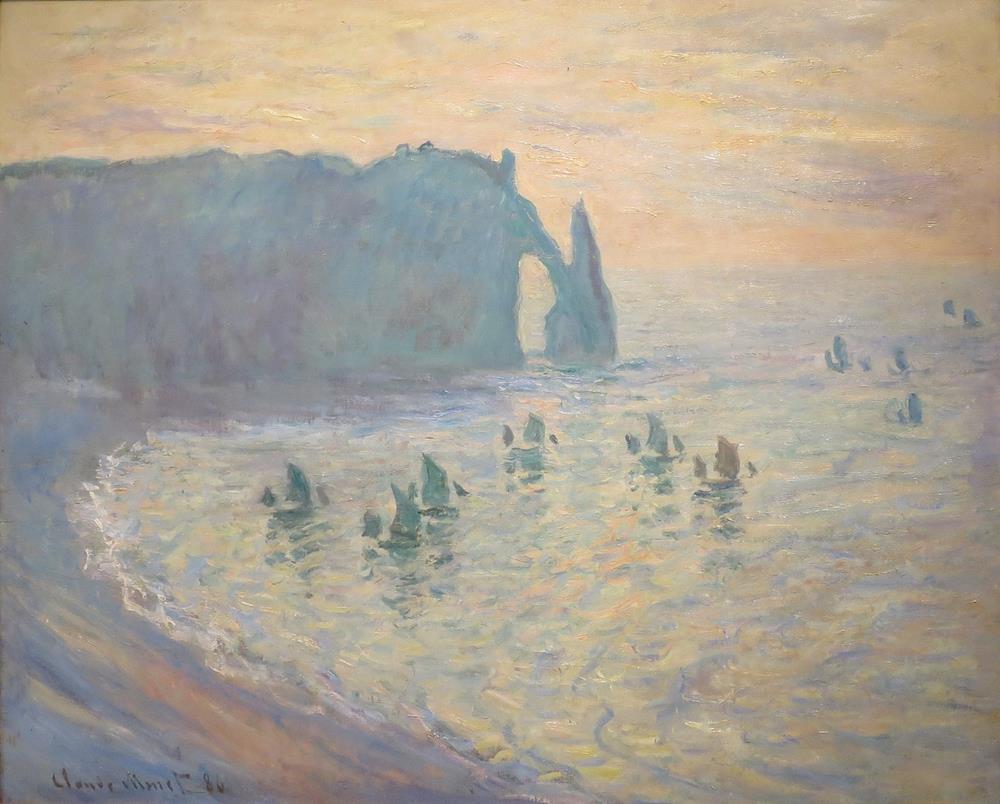 莫內象鼻海岸埃特雷塔畫作