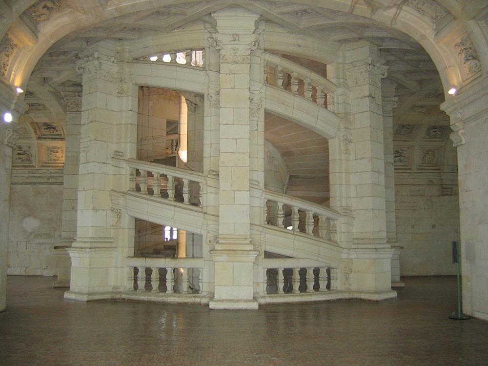 香波爾城堡雙螺旋梯