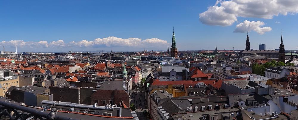 圓塔眺望哥本哈根市空景