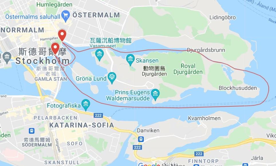 Royal Canal Tour路線圖