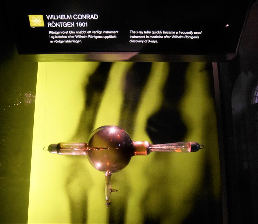 諾貝爾獎博物館倫琴相關展品