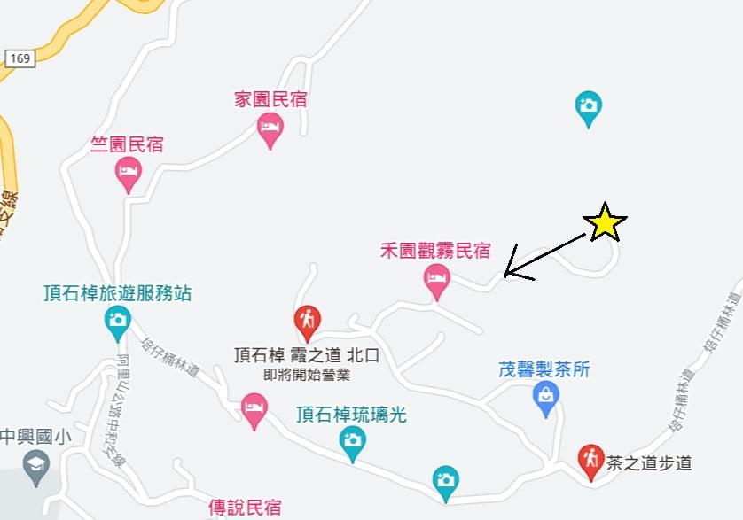 茶之道前往霞之道地圖